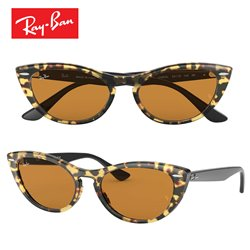 Ray-Ban Nina Havanna Gialla / Yellow Mirror Gold