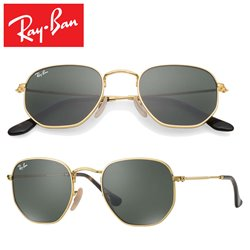 Ray-Ban Hexagonal Gold / Crystal Green