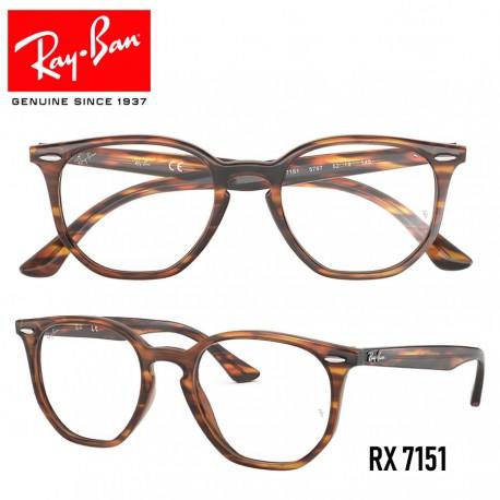 Gafas para graduado Ray-Ban Hexagonal - Havana Red/Brown