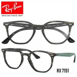 Gafas para graduado Ray-Ban Hexagonal - Grey/Green Havana