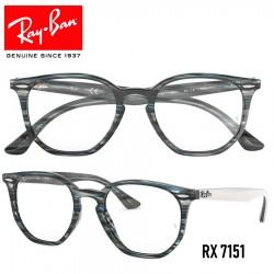 Gafas para graduado Ray-Ban Hexagonal - Blue/Grey Stripped