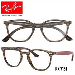 Gafas para graduado Ray-Ban Hexagonal - Brown/Grey Stripped