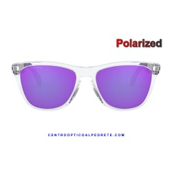 Frogskins Mix Polished Clear / Violet Iridium Polarized (OO9428-06)