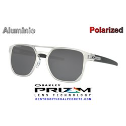 Latch Alpha Matte Silver / Prizm Black Polarized (OO4128-01)