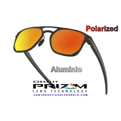 Latch Alpha Matte Black / Prizm Ruby Polarized (OO4128-05)