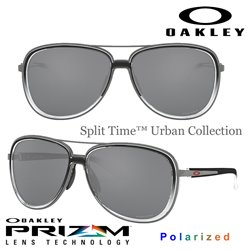 Split Time Black Clear Fade-Gunmetal/ Prizm Black Polarized (OO4129-11)
