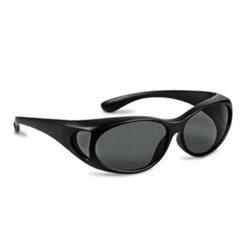 Black/Grey Round overlapping Goggles