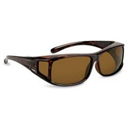 Square Glass overlapping Havana/Brown Polarized