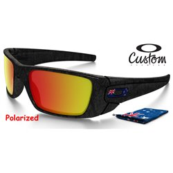Fuel Cell Custom Grey-Text / Ruby Iridium Polarized (OO9096-4603B)
