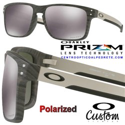 Holbrook Mix Ccustom WoodGrain / Prizm Black Polarized (OO9384-04P)