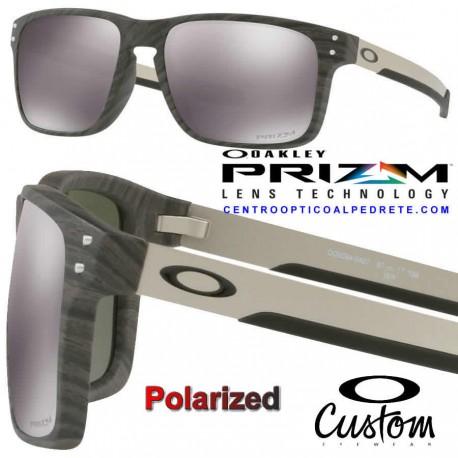 Holbrook Mix Custom WoodGrain / Prizm Black Polarized (OO9384-04P)