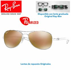 Lentes de repuesto Ray-Ban Tech Carbon Fiber / Lente Brown Mirror Gold Polar (RB8301-004/N3)