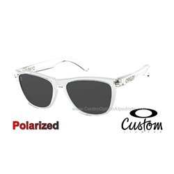 Frogskins Custom Polished Clear / Grey Polarized (OO9013-7542)