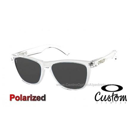 Frogskins Custom Polished Clear / Grey Polarized (OO9013-7542)