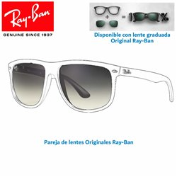 Lentes de repuesto Ray-Ban BoyFriend RB-4147 / Lente Grey Gradient (RB4147/601/32-58)