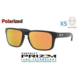 Holbrook XS Polished Black / Prizm Rose Gold Polarized (OJ9007-07)