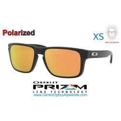 Holbrook XS Polished Black / Prizm Rose Gold Polarized (OJ9007-07)