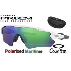 Radar EV Custom Path Polished White / Prizm Maritime Polarized (OO9208-7911)