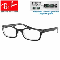 Ray-Ban Top Black on Transparen Graduate Glasses (RX5150-2034)