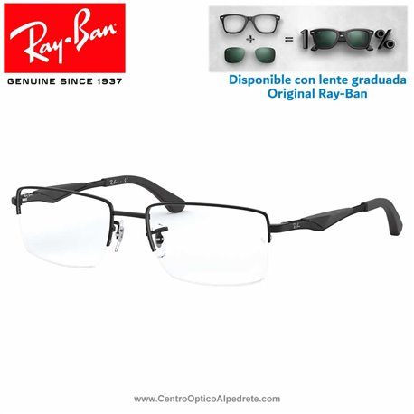 Ray-Ban Matte Black Graduate Glasses (RX6285-2503)