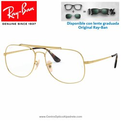 Gafas para graduado Ray-Ban The General Matte Black (RX6389-2500)
