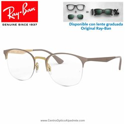 Ray-Ban Gold On top Matte Beige Graduate Glasses (RX6422-3005)