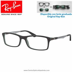 Gafas para graduado Ray-Ban Top Black On Green (RX7017-5197)