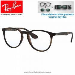 Gafas para graduado Ray-Ban Erika Rubber Havana (RX7046-5365)