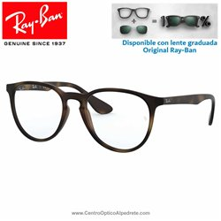 Ray-Ban Erika Rubber Havana Graduate Glasses (RX7046-5365)