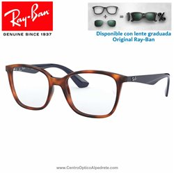 Ray-Ban Light Havana Graduate Glasses (RX7066-5585)