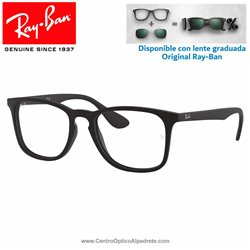 Ray-Ban Rubber Black Graduate Glasses (RX7074-5364)