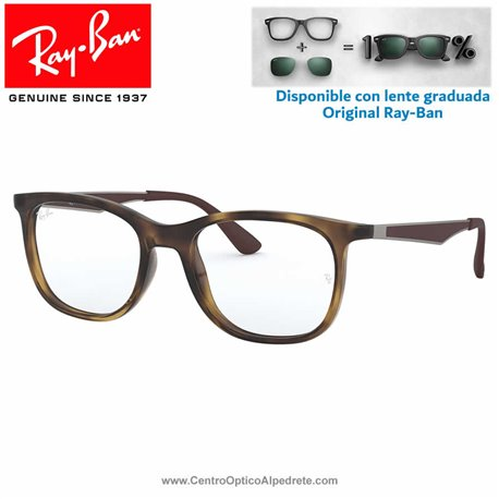 Ray-Ban Shiny Havana Graduate Glasses (RX7078-2012)