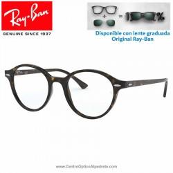 Gafas para graduado Ray-Ban Dean Shiny Havana (RX7118-2012)