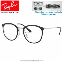 Ray-Ban Transparent On Top Black Graduate Glasses (RX7140-5852)