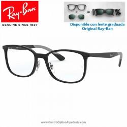 Gafas para graduado Ray-Ban Shiny Black (RX7142-2000)