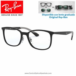 Ray-Ban Shiny Black Graduate Glasses (RX7142-2000)