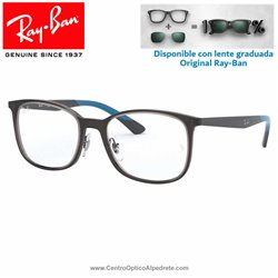 Ray-Ban Transparent Grey Graduate Glasses (RX7142-5760)
