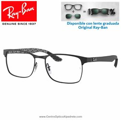 Ray-Ban Matte Black Graduate Glasses (RX8416-2503)