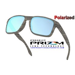 Holbrook Woodgrain / Prizm Deep Water Polarized (OO9102-J9)