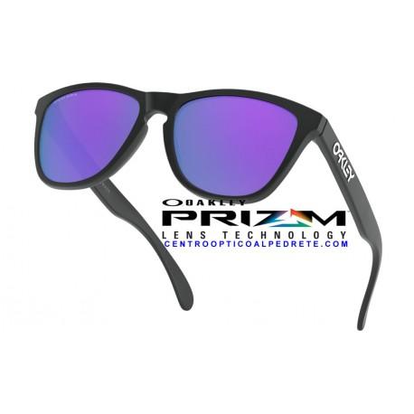 Frogskins Matte Black / Prizm Violet (OO9013-H6)