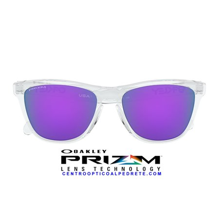 Frogskins Polished Clear / Prizm Violet (OO9013-H7)