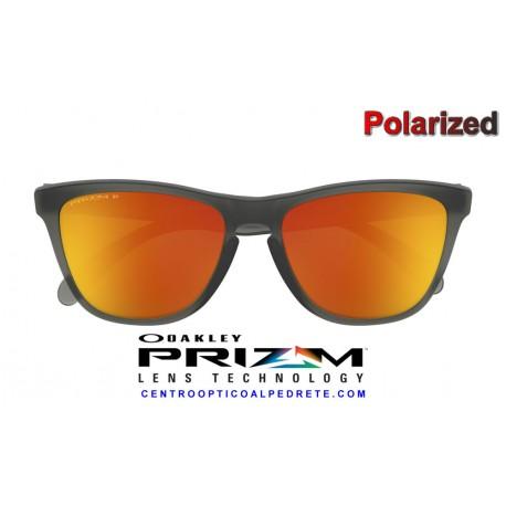 Frogskins Matte Grey Smoke / Prizm Ruby Polarized (OO9013-F8)