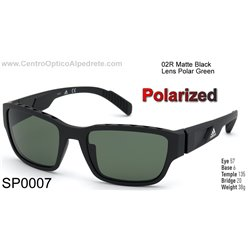 Matte Black / Green Polarized (SP0007-02R)