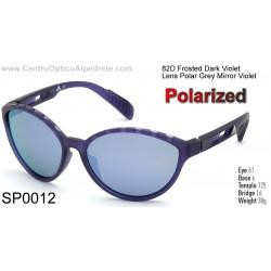 Frosted Dark Violet / Grey Polarized Mirror Violet (SP0012-82D)