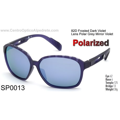 Frosted Dark Violet / Grey Polarized Mirror Violet (SP0013-82D)
