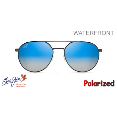 WaterFront Dark GunMetal / Dual Mirror Blue to Silver (DBS830-02C)