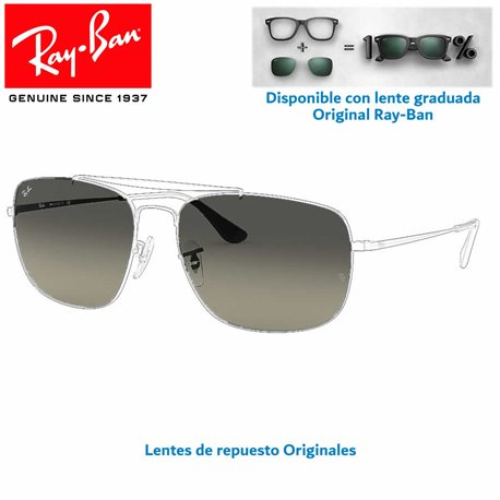 Ray-Ban Colonel Replacement Lenses / Light Grey Gradient Lens (RB3560-002/71)