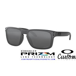 Holbrook Custom Steel / Prizm Black (OO9102-8577)