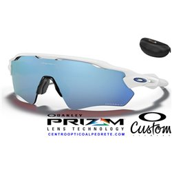 Radar EV Path Polished White / Prizm Deep Water Polarized (OO9208-55C)