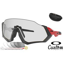 Flight Jacket Custom Red Line / Clear Black Iridum Photochromic (OO9401-08F)
